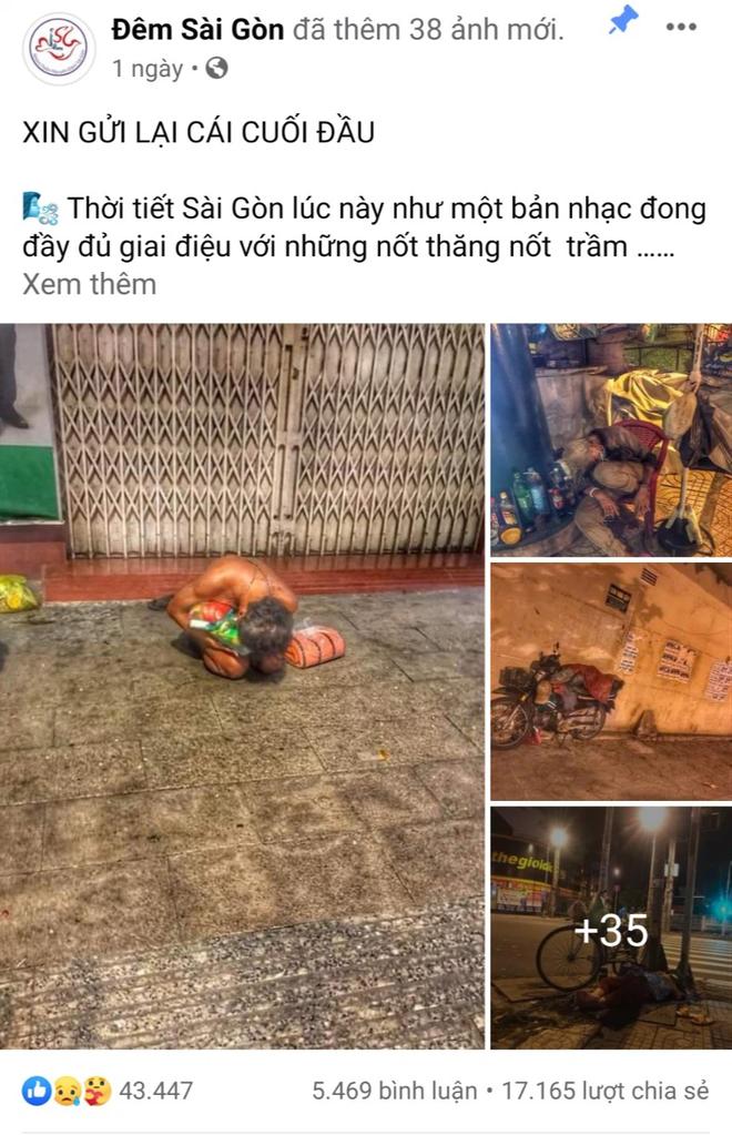 Bộ ảnh về người vô gia cư lay lắt trong đêm Sài Gòn giãn cách và những điều ấm áp nhỏ bé khiến ai cũng rưng rưng - ảnh 1
