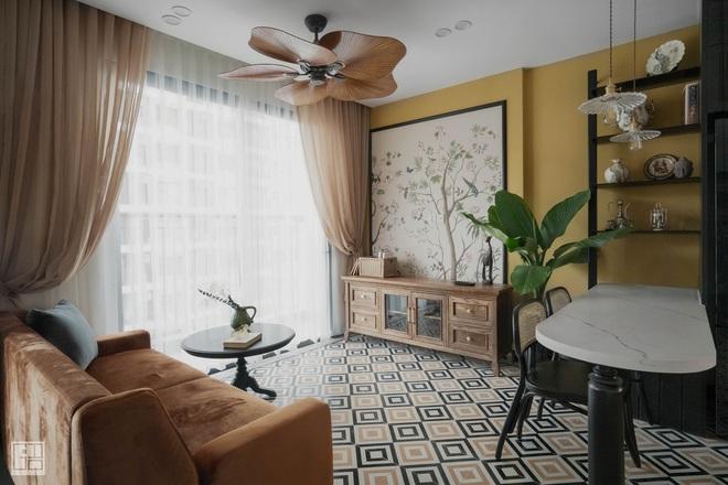 Nội thất căn hộ thiết kế phong cách Indochine 700 triệu - Ảnh 2.