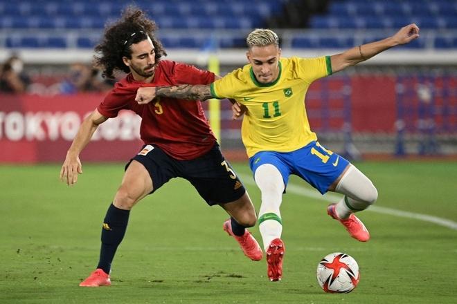 Quẳng đi 2 cơ hội mười mươi, Brazil vẫn tung cú đấm hạ gục Tây Ban Nha để bảo vệ thành công tấm HCV Olympic - Ảnh 15.