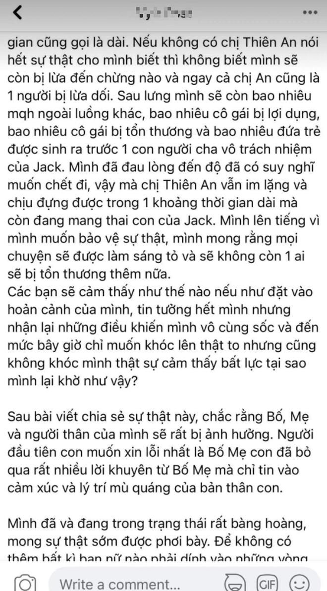 BIẾN CĂNG: 1 cô gái tố Jack bắt cá 3 tay, có con với nữ chính MV Sóng Gió, tung cả ảnh nghi nam ca sĩ trên giường và loạt tin nhắn? - Ảnh 3.