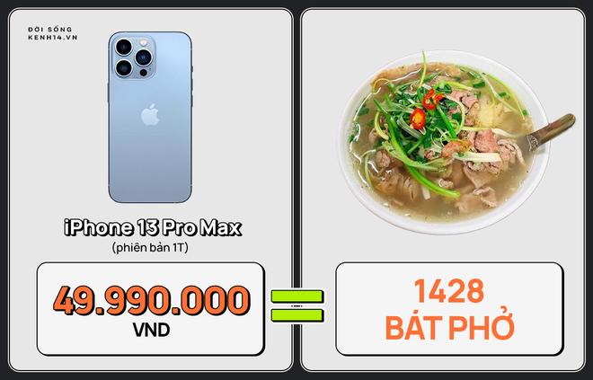 Một chiếc iPhone 13 có thể mua được: 5,5 tấn rau, 471 thùng mì hoặc tới 4 năm ăn phở!!! - ảnh 6