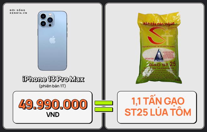 Một chiếc iPhone 13 có thể mua được: 5,5 tấn rau, 471 thùng mì hoặc tới 4 năm ăn phở!!! - ảnh 4