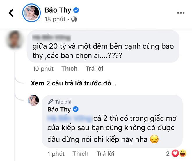 Cô dâu hào môn Bảo Thy xù lông đáp gắt khi bị netizen đem so sánh 1 đêm ở cùng với 20 tỷ - ảnh 1