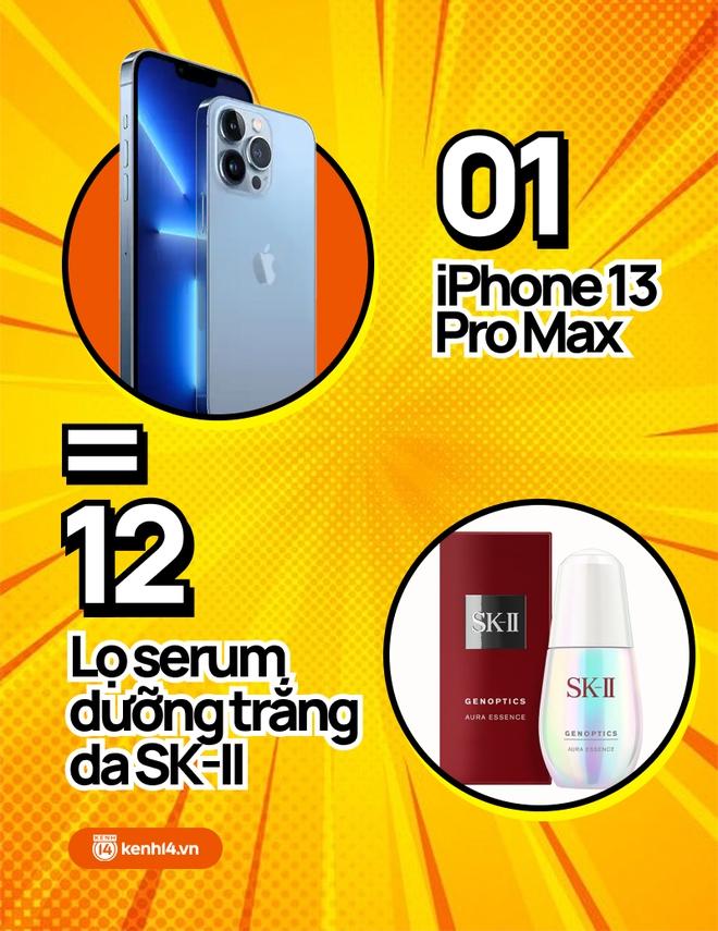Nếu không mua iPhone 13 mới, hội chị em có thể tậu về bao nhiêu sản phẩm skincare, xem con số thôi mà phát hoảng! - ảnh 2