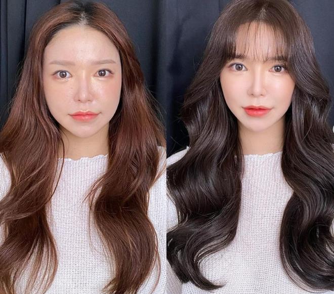 Tip hay từ stylist Hàn: Muốn biết mình hợp nhuộm tóc tối hay sáng màu, hãy xét dáng mặt - ảnh 4