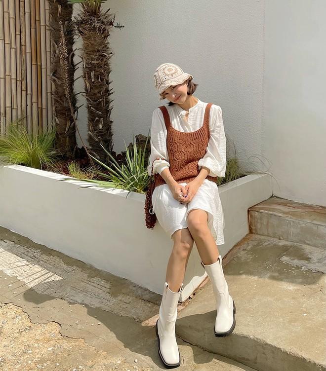 Gái Hàn lên đồ mùa thu trông yêu thế, biến tấu đa dạng với đủ loại trang phục nhìn mà ưng cái bụng - ảnh 3