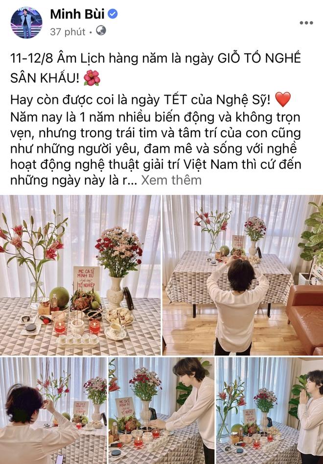 Showbiz Việt ngày Giỗ tổ sân khấu: Lý Hải - Khánh Vân và dàn sao Việt dâng lễ tại gia, Nam Thư muốn khóc vì tủi thân - ảnh 11