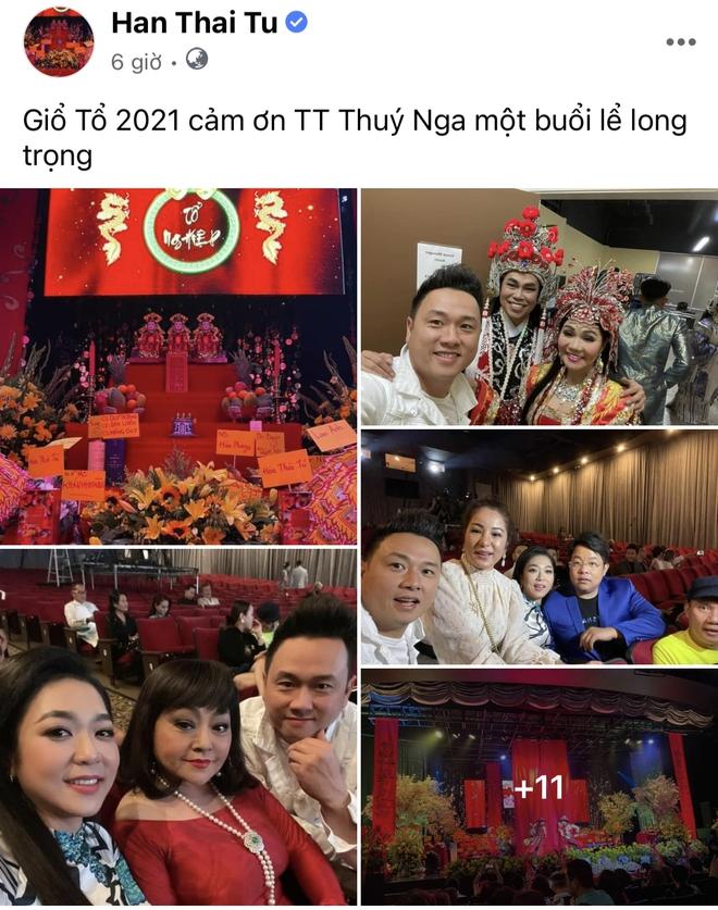 Showbiz Việt ngày Giỗ tổ sân khấu: Lý Hải - Khánh Vân và dàn sao Việt dâng lễ tại gia, Nam Thư muốn khóc vì tủi thân - ảnh 13