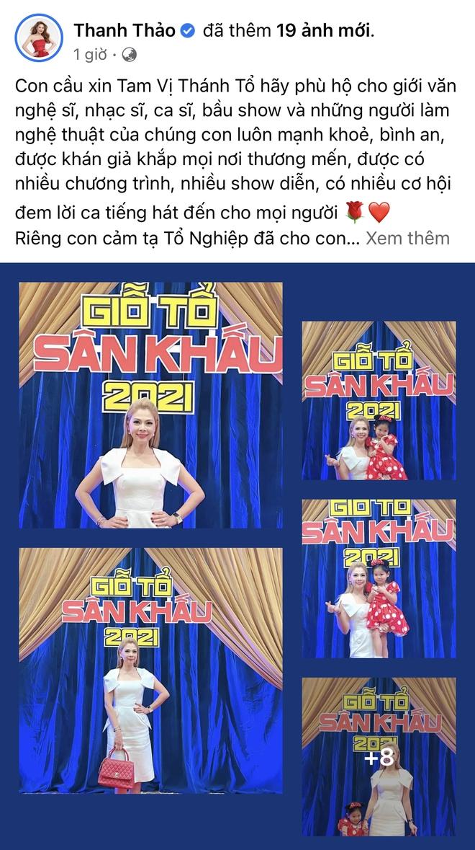 Showbiz Việt ngày Giỗ tổ sân khấu: Lý Hải - Khánh Vân và dàn sao Việt dâng lễ tại gia, Nam Thư muốn khóc vì tủi thân - ảnh 14