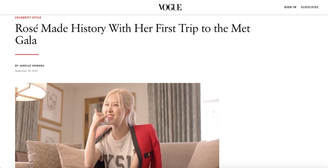 Vogue tung clip Rosé tại hậu trường Met Gala, không quên dành hẳn một bài viết khen tới tấp! - ảnh 3