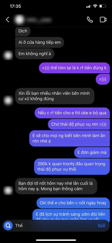 Màn đối đáp gây sốc của 1 cửa hàng có tiếng tại Hà Nội: Liên tục đổi giọng, mắng khách hàng im miệng và chỉ chuyển lại 300k dù khách đã đặt 390k tiền ốp điện thoại - ảnh 9