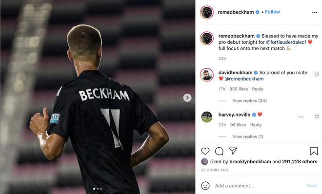 """Con trai David Beckham lần đầu ra sân thi đấu bị chuyên gia nhận xét """"không nổi bật"""" và động thái đầu tiên của ông bố trên MXH - ảnh 5"""