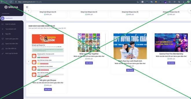 Hiếu PC vạch trần nền tảng làm giả website khiến người dùng dễ bị lừa đảo đánh cắp tài khoản Facebook, Google, Shopee, Garena - ảnh 3