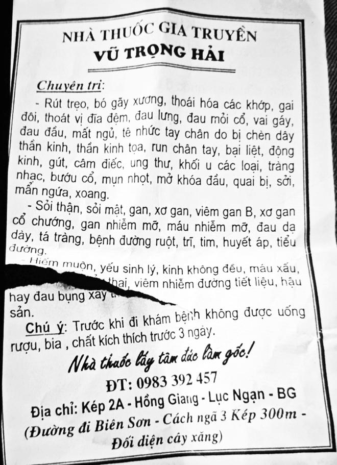 Hy hữu: Thầy lang tại Bắc Giang chữa hiếm muộn bằng cách quan hệ với người bệnh - ảnh 2