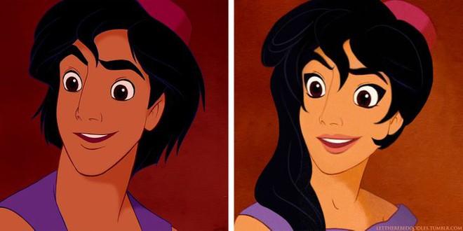 Cười xỉu khi các nhân vật Disney huyền thoại bị hoán đổi giới tính: Elsa đẹp trai hết hồn nhưng nhan sắc trùm cuối mới gây hoang mang! - ảnh 4