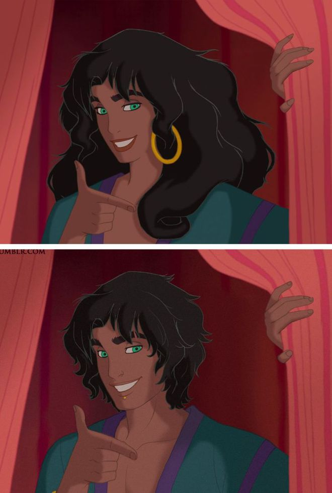 Cười xỉu khi các nhân vật Disney huyền thoại bị hoán đổi giới tính: Elsa đẹp trai hết hồn nhưng nhan sắc trùm cuối mới gây hoang mang! - ảnh 7