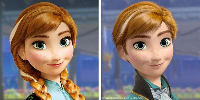Cười xỉu khi các nhân vật Disney huyền thoại bị hoán đổi giới tính: Elsa đẹp trai hết hồn nhưng nhan sắc trùm cuối mới gây hoang mang! - ảnh 3