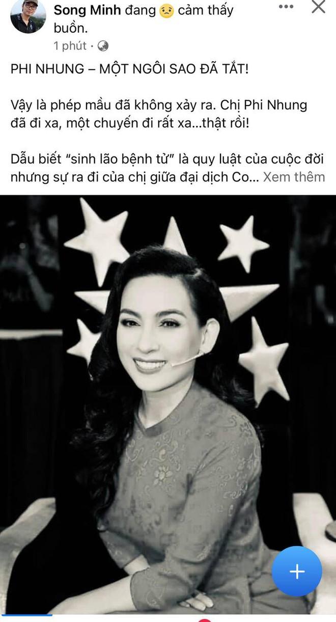 Cả showbiz Việt xót thương khi hay tin ca sĩ Phi Nhung qua đời: Lan Ngọc buồn bã, Đan Trường xúc động nói lời tiễn biệt - Ảnh 8.