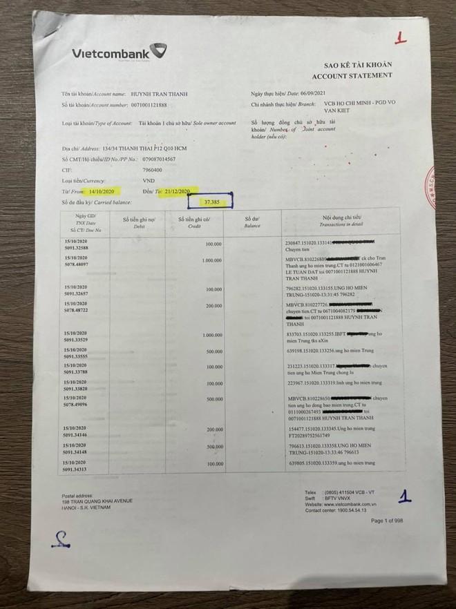 NÓNG: Trấn Thành chính thức tung 100 trang sao kê giữa ồn ào bị tố không minh bạch từ thiện - Ảnh 3.