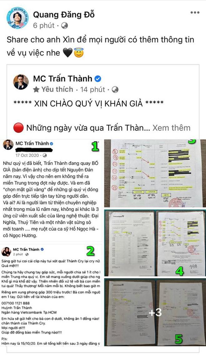 """Netizen soi bằng được 1 chi tiết bất hợp lý trong sao kê, Trấn Thành lập tức lên tiếng: """"Coi kỹ giùm Thành!"""" - Ảnh 6."""