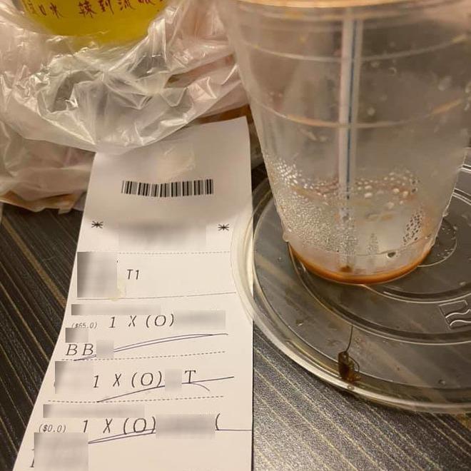 Cô gái Đài Loan đang say sưa uống trà sữa thì bỗng nhai phải 1 viên trân châu có 6 chân và 2 cái râu - ảnh 1