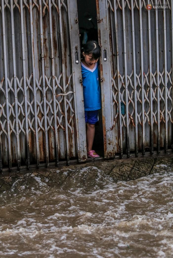Chùm ảnh: Khách Tây trên Phố nhà giàu Sài Gòn nhăn mặt vì lội nước đẩy bộ xe chết máy trong ngày triều cường đạt đỉnh - Ảnh 14.