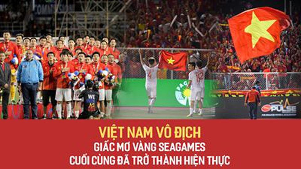 Việt Nam vô địch! Giấc mơ vàng SEAGames cuối cùng đã trở thành hiện thực