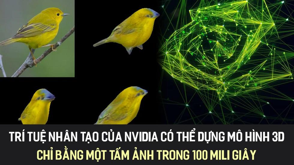 Trí tuệ nhân tạo của Nvidia có thể dựng mô hình 3D chỉ bằng một tấm ảnh trong 100 mili giây