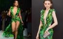 """Huyền Baby """"đụng hàng"""" J.Lo trong sự kiện khai trương showroom mỹ phẩm tại Hà Nội"""