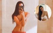 1 năm hậu tin đồn sang Mỹ sinh con, Phạm Hương khoe ảnh bán nude phô diễn trọn đường cong nóng bỏng