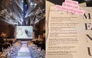 """Không chỉ Bảo Thy, đám cưới Giang Hồng Ngọc cũng gây ấn tượng với thực đơn """"năm châu hội tụ"""""""