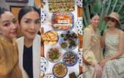 Tiệc cuối tuần giới nhà giàu: Hà Tăng nấu cả bàn ốc như nhà hàng, Băng Di - Linh Rin đến Hoa hậu Trái đất thi nhau xuýt xoa
