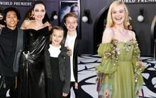 """Thảm đỏ """"Maleficent 2"""": 5 người con lớn phổng phao bên Angelina Jolie, Elle Fanning lộng lẫy như công chúa"""