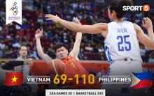 Bất lợi quá lớn về mặt thể hình, đội tuyển bóng rổ Việt Nam nhận thất bại với tỉ số đậm trước chủ nhà Philippines