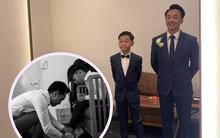 Tan chảy trước khoảnh khắc Cường Đô La cột dây giày cho con trai Subeo trong hôn lễ của mình cùng Đàm Thu Trang