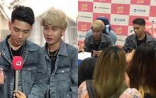 """Độc quyền: Jack và K-ICM diện đồ đôi siêu dễ thương, được khán giả tại Hàn """"đột kích"""" chỉ để trò chuyện vài phút"""