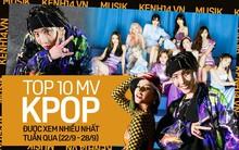"""10 MV Kpop được xem nhiều nhất tuần qua: TWICE """"cướp"""" ngôi vương của BLACKPINK cũng không bất ngờ bằng thành tích khủng của J-Hope (BTS)"""