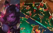 Quá đam mê, một game thủ tự mình làm bản đồ LMHT bằng bánh gừng dù đang trong kỳ nghỉ Giáng Sinh