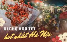 Sáng sớm cuối năm ở chợ hoa hot nhất Hà Nội: người qua kẻ lại tấp nập suốt cả đêm, nhiều bạn trẻ cũng lặn lội dậy sớm đi mua hoa