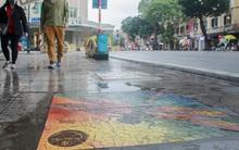 """Ảnh: Nắp cống, hố ga """"vô tri, vô giác"""" tại phố đi bộ Hà Nội biến thành tác phẩm nghệ thuật đẹp như tranh vẽ"""