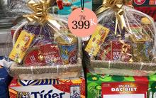"""Đi ngắm giỏ quà Tết ở siêu thị và cửa hàng tiện lợi tại Hà Nội: Từ 399K là sắm được một giỏ """"ngon lành cành đào"""""""