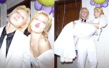 HOT: Nửa đêm Hyuna đăng ảnh diện váy cô dâu, nghi vấn kết hôn với Dawn vào đúng tiệc sinh nhật?