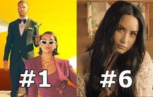 """Top 10 bài hát hot nhất Anh Quốc: Calvin Harris chưa buông #1, hit EDM """"chất lừ"""" của Demi vươn lên hạng mới"""