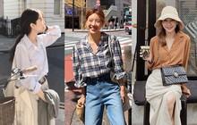 """5 mẫu áo sơ mi đang chiếm sóng Thu 2019, mau tậu gấp để """"nâng level"""" phong cách thôi các nàng công sở!"""