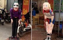 """Đặt tượng Joker và Harley Quinn trước quán ăn để thu hút sinh viên, ông chủ """"có tâm"""" nhất năm đây rồi!"""