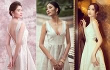 Khi 3 bông Hậu đụng hàng: Bộ đầm trắng tôn nhan sắc Đỗ Mỹ Linh lại vô tình dấy lên nghi án nâng ngực của Hoàng Thùy