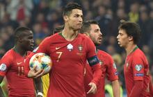 Ronaldo ghi bàn và lập nên thành tích vĩ đại, Bồ Đào Nha vẫn thua đau tại vòng loại Euro 2020