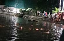 Hà Nội: Bơi thuyền vịt không may bị lật, 2 bé gái tử vong thương tâm