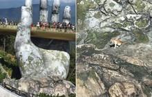 """Dân mạng chết cười với hình ảnh chú mèo xuất hiện ở Cầu Vàng: Trẫm là """"hoàng thượng"""", cần gì phải mua vé!"""