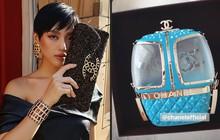 Khánh Linh đập hộp túi Chanel hàng độc, chưa hết trầm trồ với thiết kế lạ mắt đã phải toát mồ hôi vì mức giá